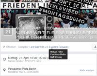 Facebook: Gastgeber der Berliner Mahnwache (Screenshot)